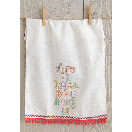 Linen Hand Towel Life is What You Bake It