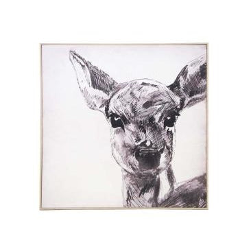 Wall Canvas Bambi Sketch 100 x 100 cm