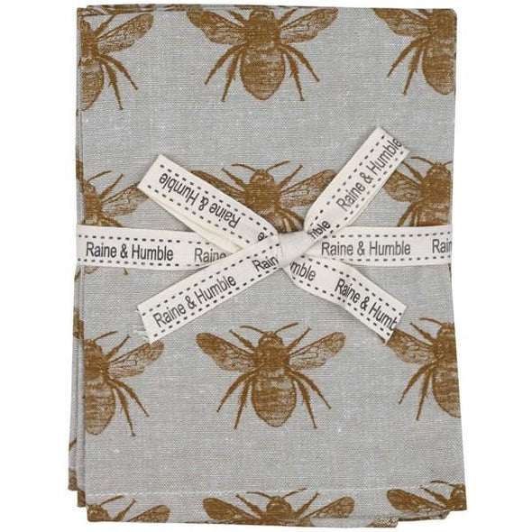 Honey Bee Set of 4 Napkins - Mustard