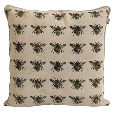 R & H Bee Cushion 45cm x 45cm - Olive