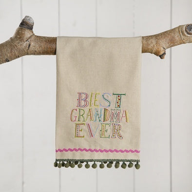 Linen Hand Towel Best Grandma Ever