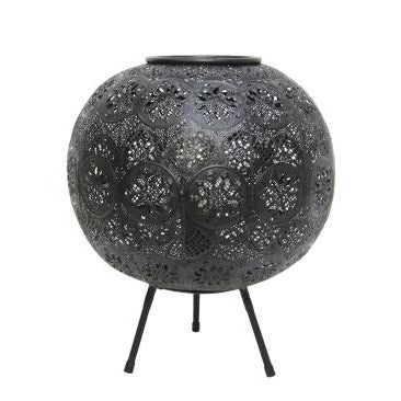 Aadila Pressed Metal Table Lamp- Matt Black
