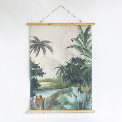 Vintage Style Jungle Hanging Wall Art