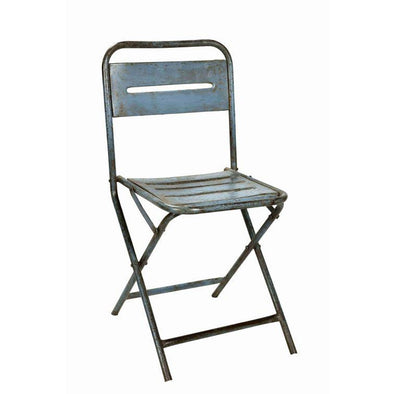 Blue Iron Folding Chair