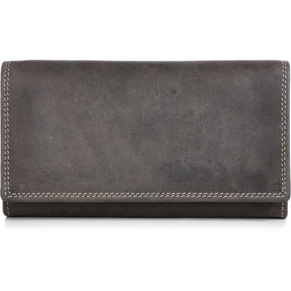 Charlene Leather Wallet - Taupe