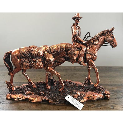 Copper Stockman with Pack Horse