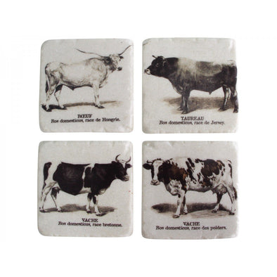 Cow Coasters Set of 4