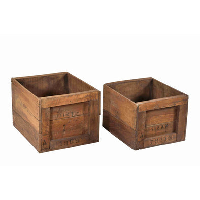 Recycled Teak Wood Crate/Planter