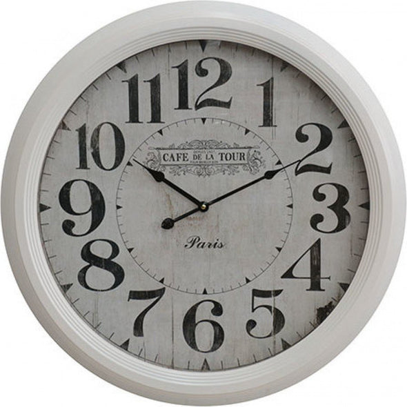Clock De La Tour - White