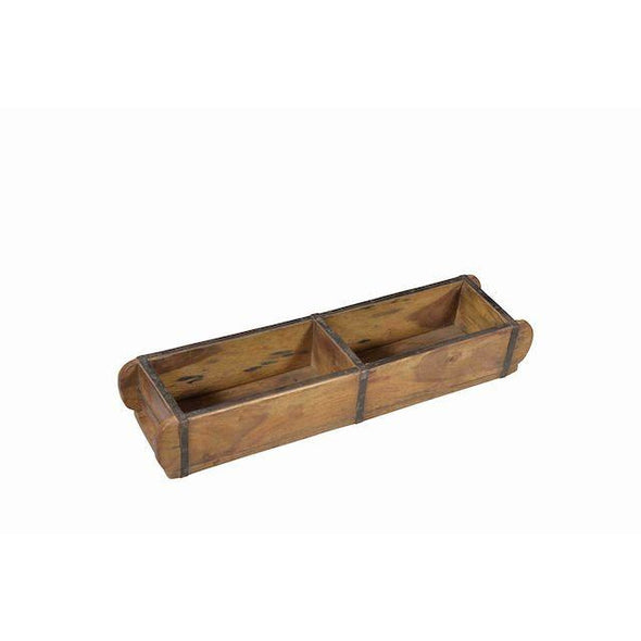 Double Wooden Brick Tray