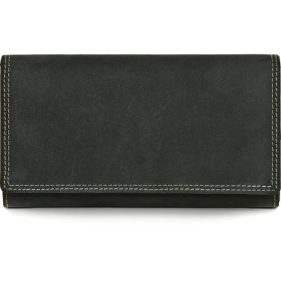 Charlene Leather Wallet - Black
