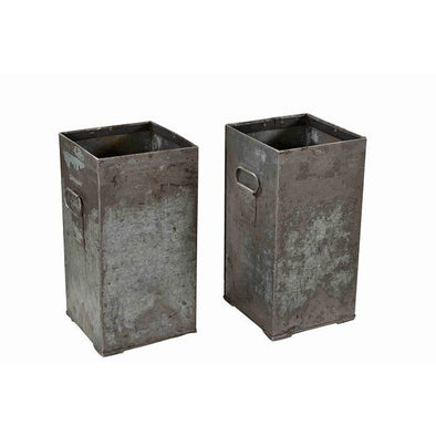 Iron Square Base Planter