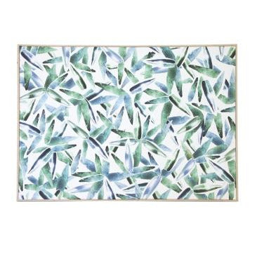 Eucalyptus Leaf Wall Canvas With Natural Frame