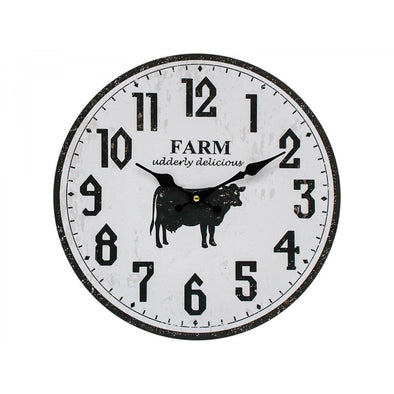 Clock Farm Cow