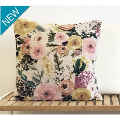Off-white Botanical Cushion