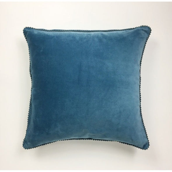 Velvet Blue Lace Cushion