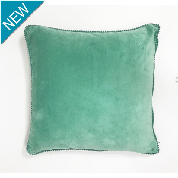 Aqua Velvet Lace Cushion
