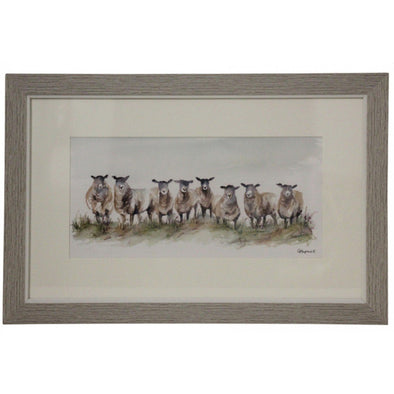 Framed Print - Sheep Family