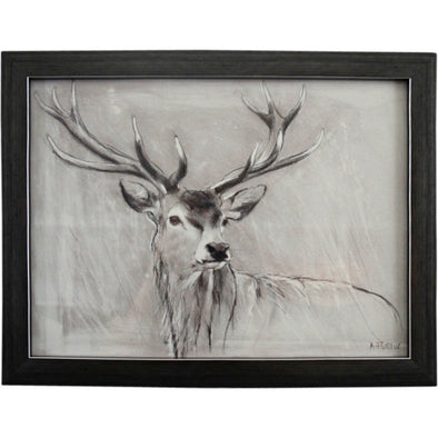 Framed Watchful Deer Print