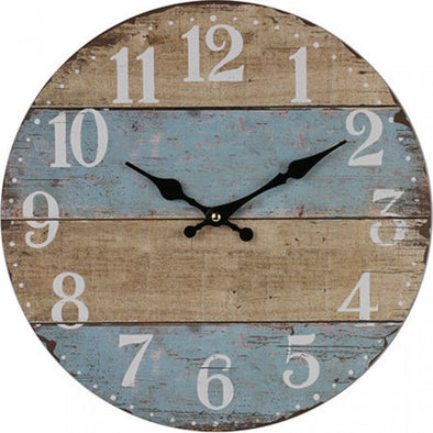 Clock French Blue Stripe