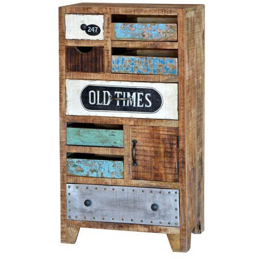 Tall Wooden Eclectic Drawers