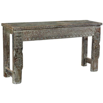 Bohemian Carved Wood Console