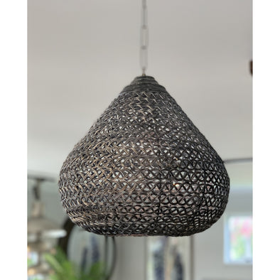 Teardrop Hanging Light Shade w/Chain (Unwired)