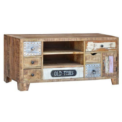 Mango Wood Eclectic TV Unit Small