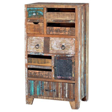 Reclaimed Wood Eclectic Drawers Tall