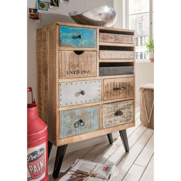 Mango Wood Eclectic Drawers w/Retro Legs