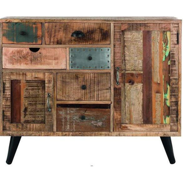 Mango Wood Eclectic Med Sideboard w/Retro Legs
