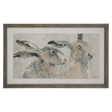 Framed Print - Kissing Rabbits