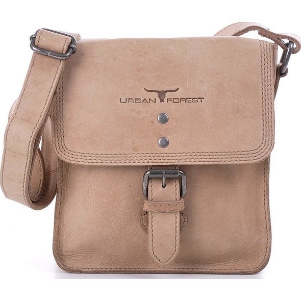 Little Joe Leather Cross Body Bag - Natural