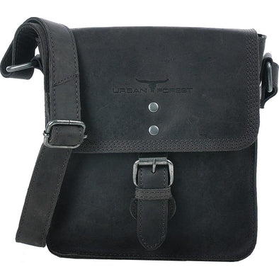 Little Joe Leather Cross Body Bag - Black