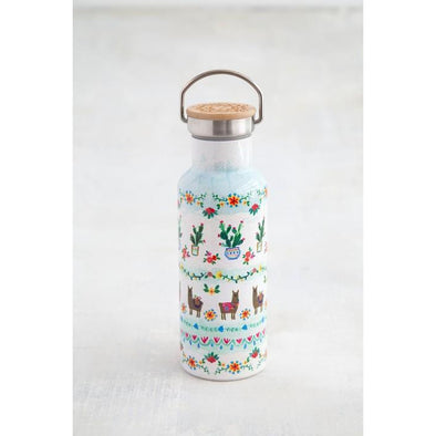 Traveler Water Bottle Llama & Cactus