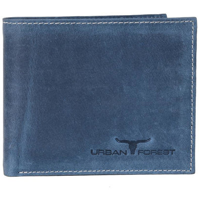 Logan Genuine Leather Wallet Blue