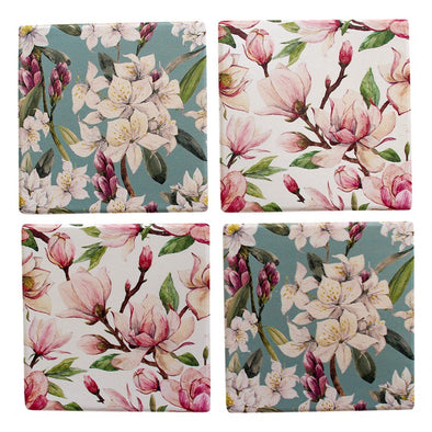 Magnolia Flowers Coasters