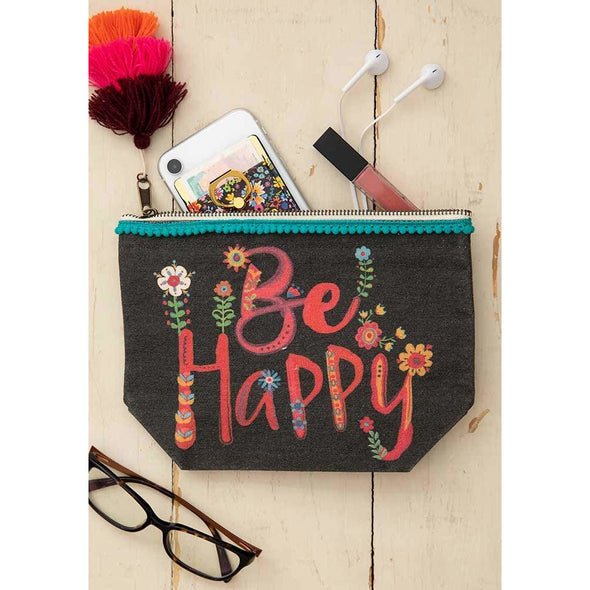 Canvas Pouch Be Happy