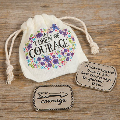Natural Life Token in Bag Courage