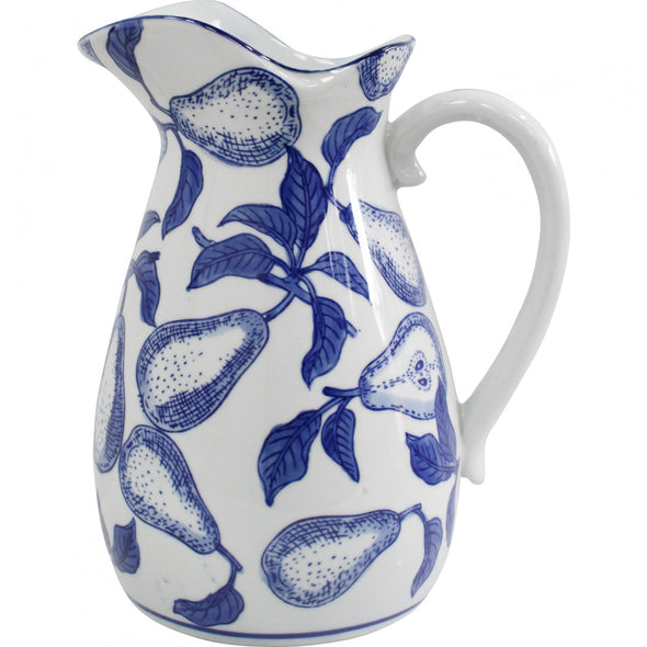 Porcelain Blue & White Pear Jug