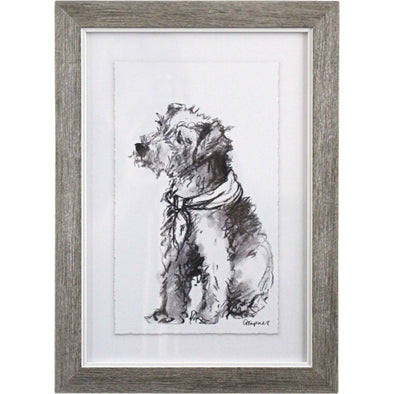 Framed Puppy Drawing 2