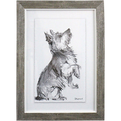 Framed Puppy Drawing 4