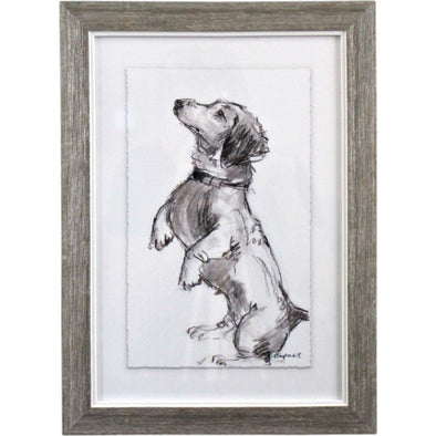 Framed Puppy Drawing 3