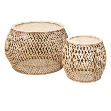 Bambi Rattan Tables 2 Sizes