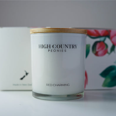 High Country Peonies New Zealand Candle Large 60+ Hour Burn Time