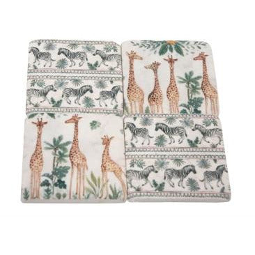Safari Coasters Set of 4- Design 1
