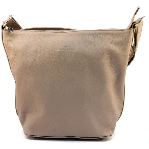 Lotus Leather Hand/Shoulder Bag- Sand