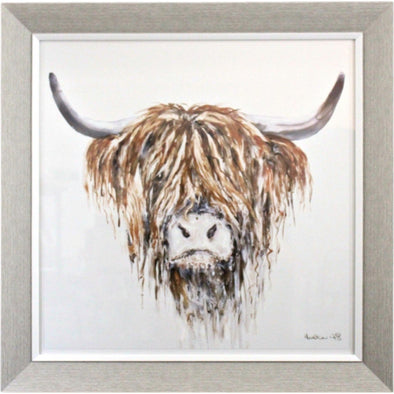 Scruffy Yak Glass Framed Wall Art