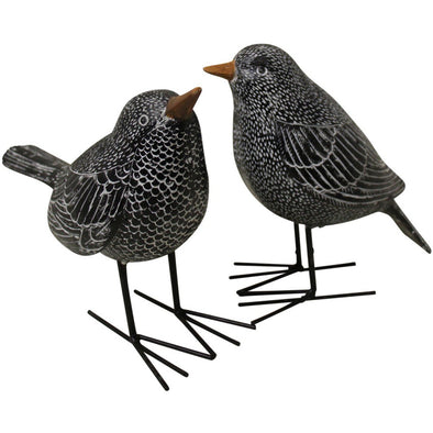 Set of 2 Black Birds