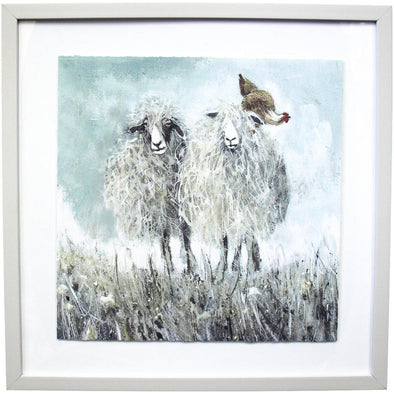Framed Print Sheep Friends 2